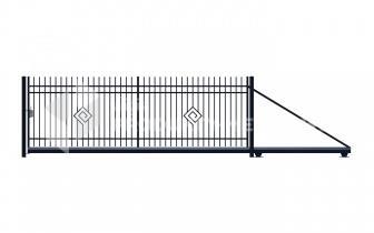 Brama przesuwna MODEL 05 oc. ogniowo lak. proszkowo H=1500 mm, L= 4000 mm