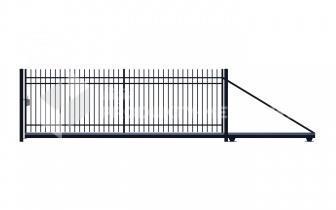 Brama przesuwna MODEL 02 oc. ogniowo lak. proszkowo H=1500 mm, L= 4000 mm