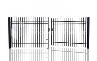 Brama uchylna MODEL 02 oc. ogniowo lak.proszkowo H= 1500 mm, L= 5000 mm
