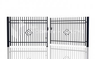 Brama uchylna MODEL 05 oc. ogniowo lak. proszkowo H= 1500 mm, L= 5000 mm