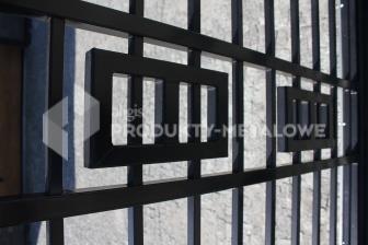 Brama uchylna MODEL 07 oc. ogniowo lak. proszkowo H= 1500 mm, L= 5000 mm
