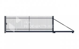 Brama przesuwna MODEL 01 oc. ogniowo lak.proszkowo H=1500 mm, L= 4000 mm