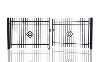 Brama uchylna - MP04 ocynkowana ogniowo polakierowana proszkowo H= 1500 mm, L= 5000 mm