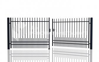 Brama uchylna MODEL 04 oc. ogniowo lak. proszkowo H= 1500 mm, L= 5000 mm