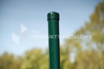 Słupek ogrodzeniowy do siatki plecionej  ocynkowany i malowany proszkowo  H= 2100 mm, Ø 42 mm