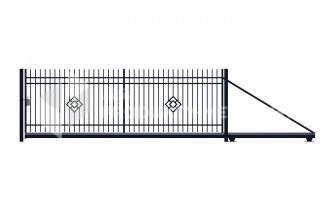 Brama przesuwna MP06 ocynkowana ogniowo lakierowan proszkowo H=1500 mm, L= 4000 mm