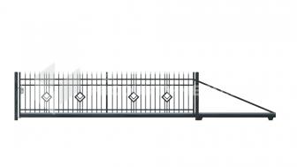 Brama przesuwna MP08 ocynkowana ogniowo lakierowan proszkowo H=1500 mm, L= 4000 mm