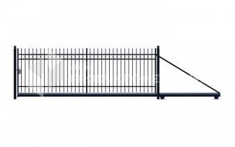 Brama przesuwna MODEL 03 ocynkowana ogniowo H=1500 mm, L= 4000 mm