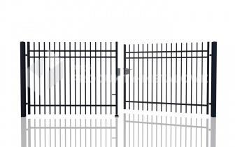 Brama uchylna MODEL 02 ocynkowana ogniowo H= 1500 mm, L= 5000 m
