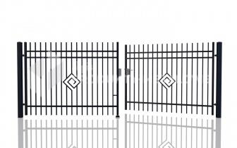 Brama uchylna MODEL 05 ocynkowana ogniowo H= 1500 mm, L= 5000 m