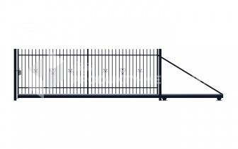 Brama przesuwna MODEL 07 ocynkowana ogniowo H=1500 mm, L= 4000 mm