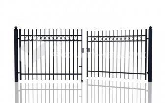 Brama uchylna MODEL 03 oc. ogniowo lak. proszkowo H= 1500 mm, L= 5000 mm