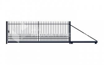 Brama przesuwna MODEL 04 oc. ogniowo lak. proszkowo H=1500 mm, L= 4000 mm
