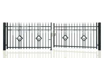 Brama uchylna - MP08 ocynkowana ogniowo H= 1500 mm, L= 5000 mm