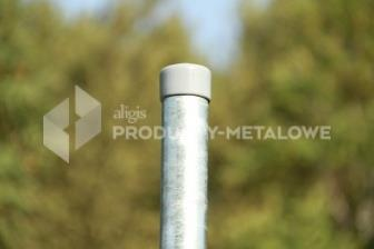Słupek ogrodzeniowy do siatki plecionej ocynkowany ogniowo  H= 2400 mm, Ø 42 mm